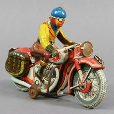 TIPP  CO Motorcycle. key wind-up. lithographed metal. early 20th c.  18cm.