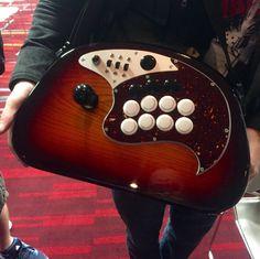 Sick guitar x arcade stick mod