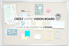 Create your vision board: the complete step-by-step in 5 steps! :the challenges-the-wire … Diy Tableau, Goal Board, Organization And Management, Miracle Morning, Visualisation, Zen Meditation, Journal Inspiration, Online Business, Create Yourself