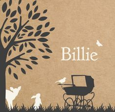 Zo schattig dit geboortekaartje. Zowel voor jongens als meisjes is dit vintage babykaartje een tijdloos ontwerp.