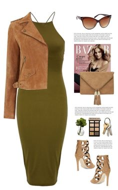 """""""Sassyselfie.com"""" by yexyka ❤ liked on Polyvore featuring Rebecca Minkoff, Nearly Natural, Bobbi Brown Cosmetics, Oasis, GREEN, dress, sunglasses, trend and sassyselfie"""