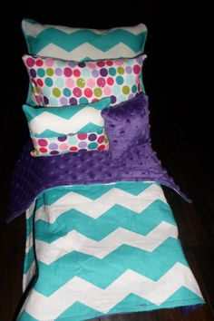 American Girl Doll Bedding 18 inch doll bedding by sweetflutters, $28.00