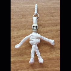 Paracord Skeleton Phone Charm - Have something you can't find on the high street with our Skeleton Phone Charm.  Unique and unusual.  Great for the kids.