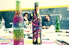 Art for Heineken. Bottle, Celebrities, Designers, Home Decor, Art, Heineken, Decorated Bottles, Art Background, Celebs