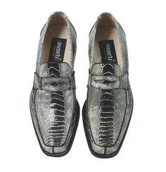 ee8f3635a74 Men s Mauri Cambridge Black Genuine Ostrich Leg Leather Slip On Dress Shoes