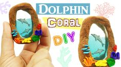 DIY MINIATURE DOLPHINS  ENVIRONMENT Polymer Clay & Resin tutorial - how ...