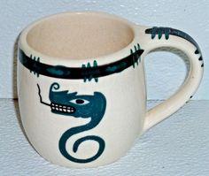 Art Pottery Mug Cup David Lambert Vtg Lightning Snake Haida Native Pottery Mugs, Pottery Art, David Lambert, Mug Cup, Lightning, Nativity, Snake, Tableware, Pretty