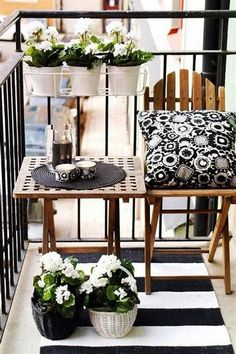 77 cool ideas for space-saving furniture, which you coquettish the small balcony - Balkonmöbel – Terrassenmöbel – Terrassengestaltung - Small Balcony Design, Small Balcony Garden, Terrace Design, Balcony Ideas, Balcony Bar, Balcony Plants, Small Balconies, Balcony Privacy, Balcony House
