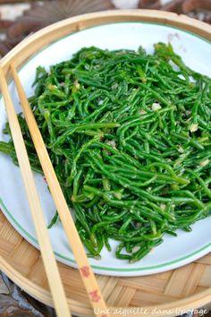 salicornes sautées à l'asiatique #vegan #vegetalien #vegetarien