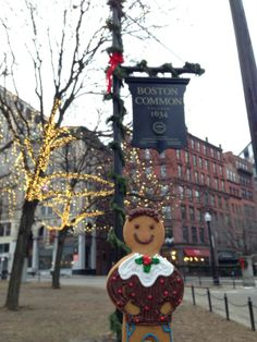 This Jolly Ginger hit Boston for Christmas in his Christmas pudding jumper!