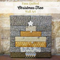 morena's corner: Faux Quilting: Christmas Tree Wall Art   tut no sew