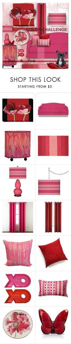 """Color Challenge"" by lastchance ❤ liked on Polyvore featuring interior, interiors, interior design, home, home decor, interior decorating, Home Decorators Collection, Universal Lighting and Decor, Chandra Rugs and Giclee Glow"