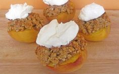Baked Peaches Stuffed with Oat Streusel