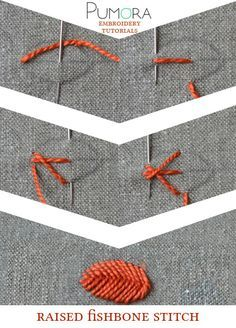 Pumora's embroidery stitch-lexicon: the raised fishbone stitch