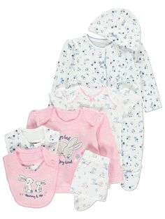 From breakfast to a blissful bedtime, this adorable starter set features 7 essentials for simply lovely dressing for your precious one. The set includes a to. Baby Girl Pajamas, My Baby Girl, Baby Doll Nursery, Baby Dolls, Toddler Outfits, Girl Outfits, Cute Babies, Baby Kids, Cute Baby Clothes