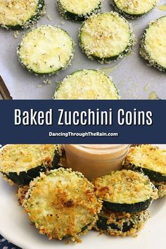 These Baked Zucchini Chips are one of the best zucchini recipes I've tried! Baked and not fried, these flavorful zucchini bites will easily become one of your favorite appetizer recipes! #zucchini #zucchini_chips #zucchinirecipes #appetizers #appetizerrecipes #baked