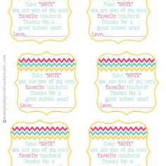 Teacher appreciation gift tags free printable pinterest take note gift tag teacher appreciationthis printable gift tag reads negle Image collections