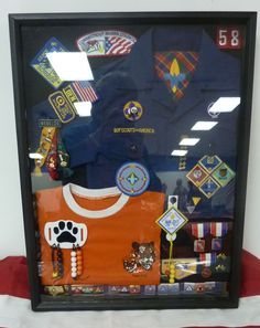 Cub Scout Shadow Box - idea for after my kiddo grows and gets his Eagle. So doing this!