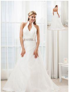 brudekjole,ny,billig,yes,chiffon,perler,sten,kort,knapper,organza,bælte,