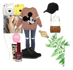 """"""""""" by fashionparadiseee ❤ liked on Polyvore featuring Topshop, Forever 21, UGG Australia, Eos, Lacoste, New Directions and Keds"""