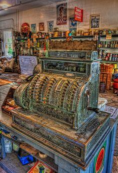 General Store Cash Register    General Store Cash Register, Heritage Village, Largo, Florida