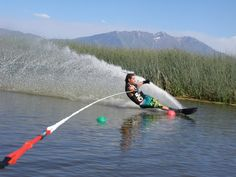 Cuttin it up!! Summertime love!! slalom water skiing saw this over summer outside of raliegh must say want to try this.