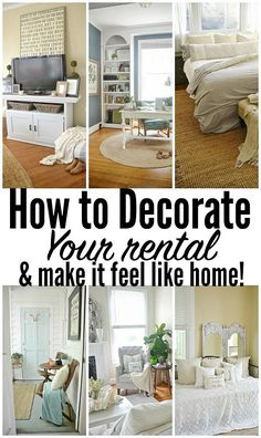 How to make your rental feel like your home! Simple & easy steps to Instantly ma. How to make your rental feel like your home! Simple & easy steps to Instantly make your rental feel like the home you love. A must pin! Rental Home Decor, Rental Decorating, Decorating Ideas, Rental Homes, Rental Property, Diy Home Decor Rustic, Easy Home Decor, Home Design, Interior Design
