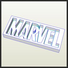Marvel Comics Logo Free Papercraft Download - http://www.papercraftsquare.com/marvel-comics-logo-free-papercraft-download.html