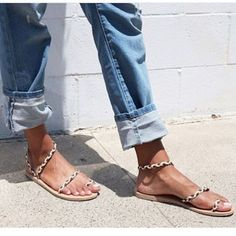 These are the 4 hottest sandal brands at the moment! Tap the link in our bio to check them out