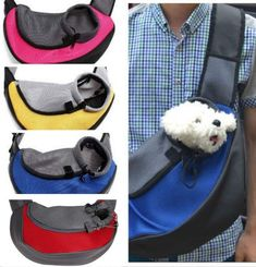 7 Stylish Dog Carriers For Puppies- Puppieslove.net Small Pet Carrier, Puppy Carrier, Pet Carrier Bag, Sling Carrier, Small Puppies, Small Dogs, Dogs And Puppies, Puppies Puppies, Small Animals