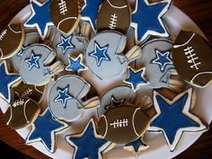 Dallas Cowboy cookies