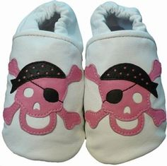 Pink Skull Baby Shoes at www.cutebabyshoes.com for my little girlie pirate!