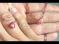 Easy Jewelry Tutorial : Wire Wrapped Adjustable Ring with Crystals - YouTube