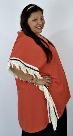 Southwestern Flare Fringe Kimono by SPIN - Rust - Debra's Passion Boutique - 2