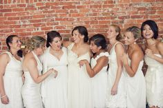 Bridesmaids all in white. Love it or hate it? @stylemepretty