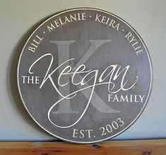 Personalized Established Family Name Sign -- Monogram Round Sign - - Wedding Anniversary Gift - Est. Date - Custom Gift - Wood Sign - Personalized Established Family Name Sign — Monogram Round Sign – – Wedding Anniversary - Monogram Signs, Monogram Initials, Personalized Signs, Personalized Family Gifts, Monogram Wedding, Personalized Wedding, Family Name Established, Family Name Signs, Wooden Family Name Sign
