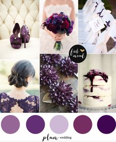 Plum wedding color palette perfect for a fall wedding! http://fabmood.com/plum-wedding-color/