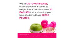Are you using one of these excuses that prevent weight loss? http://ltl.is/Zc8F1
