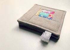 fabric coasters Liberty lawn patchwork by WheretheOrchidsGrow