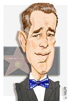 Caricaturas de Famosos. Humphrey Bogart Anton, Humphrey Bogart, Digital, Celebrity Caricatures