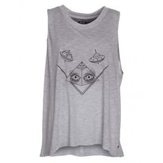 TEE SHIRT MC FEMME Debardeur Volcom Rockaway - Heather Grey