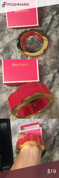 Pink juicy couture bracelet Pink juicy couture bracelet in box good condition worn a few times Juicy Couture Jewelry Bracelets