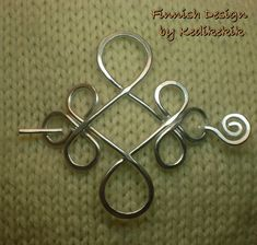 Silver CELTIC BROOCH Hair Pin or Shawl Pin made with by Kedikekik, $16.00