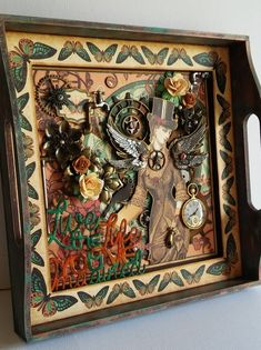 How to Make a Graphic 45 Steampunk Debutante Glass Tray
