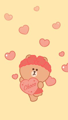 BROWN PIC is where you can find all the character GIFs, pics and free wallpapers of LINE friends. Come and meet Brown, Cony, Choco, Sally and other friends! Lines Wallpaper, More Wallpaper, Aesthetic Iphone Wallpaper, Kakao Friends, Friends Wallpaper, Line Friends, Tatty Teddy, Tumblr, Pikachu