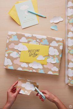 DIY Geschenkverpackung Baby Gift Wrapping, Birthday Gift Wrapping, Gift Wraping, Creative Gift Wrapping, Christmas Gift Wrapping, Creative Gifts, Birthday Gifts, Easy Gift Wrapping Ideas, Birthday Present Diy