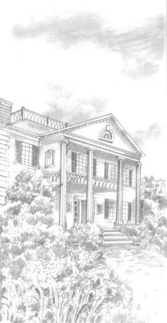 """The Pontelliers possessed a very charming home on Esplanade Street in New Orleans. It was a large, double cottage, with a broad front veranda, whose round, fluted columns supported the sloping roof. The house was painted a dazzling white; the outside shutters, or jalousies, were green. In the yard, which was kept scrupulously neat, were flowers and plants of every description which flourishes in South Louisiana."" (page 71)"