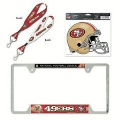 San Francisco 49ers License Plate Frame and Key Chain Gift Set