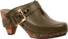 Isabell clog (color: Olive) #sanita #clogs #shoes