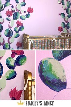 What You'll Want To Hunt For In A Very Do-it-yourself Dwelling Energy Audit This Little Neutral Cactus Wall Mural Sure Was Fun To Paint It Took Less Than Four Hours To Create And Only Required Three Colors Of Paint - By Tracey's Fancy Cactus Nursery Ideas Diy Wand, Baby Girl Nursery Decor, Nursery Wall Art, Nursery Ideas, Cactus Decor, Baby Furniture, Painted Furniture, Diy Wall Art, Wall Murals
